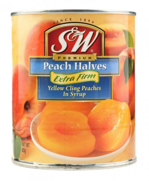 S&W Canned Yellow Cling Peach Slices 825 g