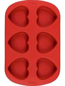 2105-4012 Wilton VAL 6 CAV SILICONE HEART PAN