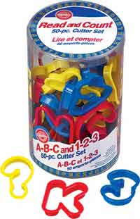 2304-1054 Wilton 50PC ABC & 123 CC SET