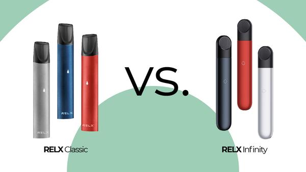 Relx Classic Pod VS Relx Infinity Pod ต่างกันอย่างไร