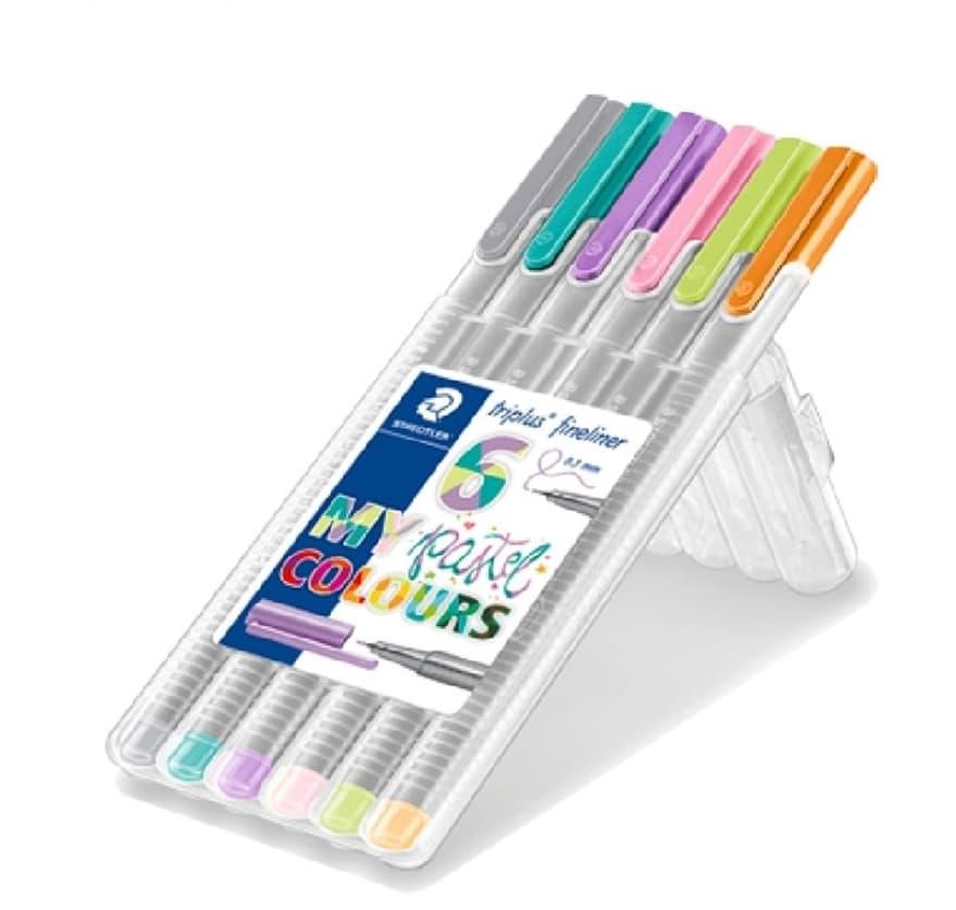 ปากกา Staedtler Triplus Fineliner 6 สี My Pastel