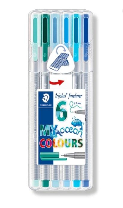 ปากกา Staedtler Triplus Fineliner 6 สี My Ocean