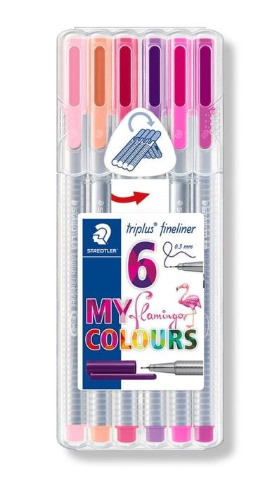 ปากกา Staedtler Triplus Fineliner 6 สี My Flamingo