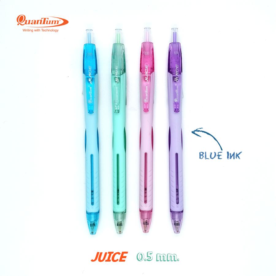 ปากกาควอนตั้ม Juice 0.5 มม. หมึกสีน้ำเงิน