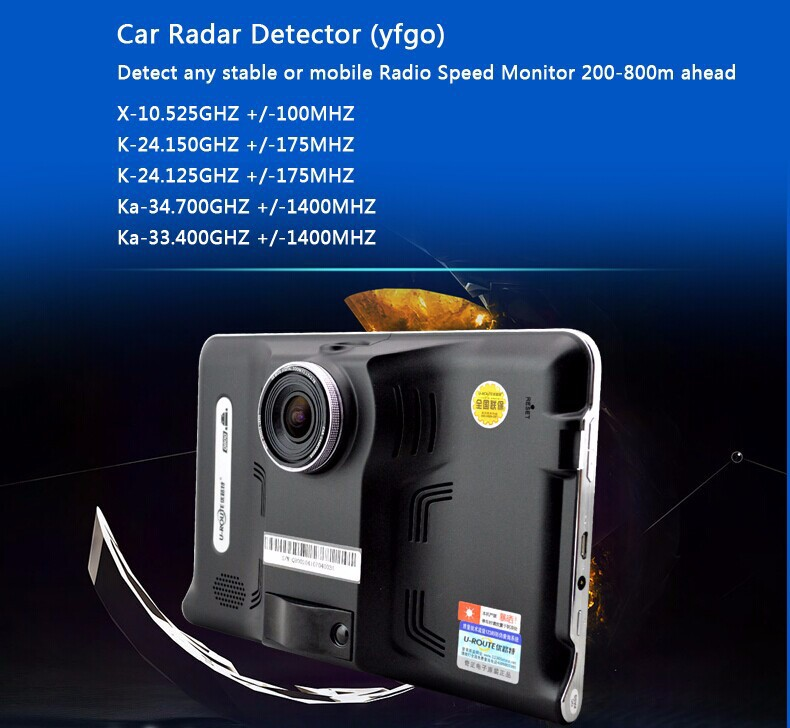 Radar Detector Gps DVR All in one.