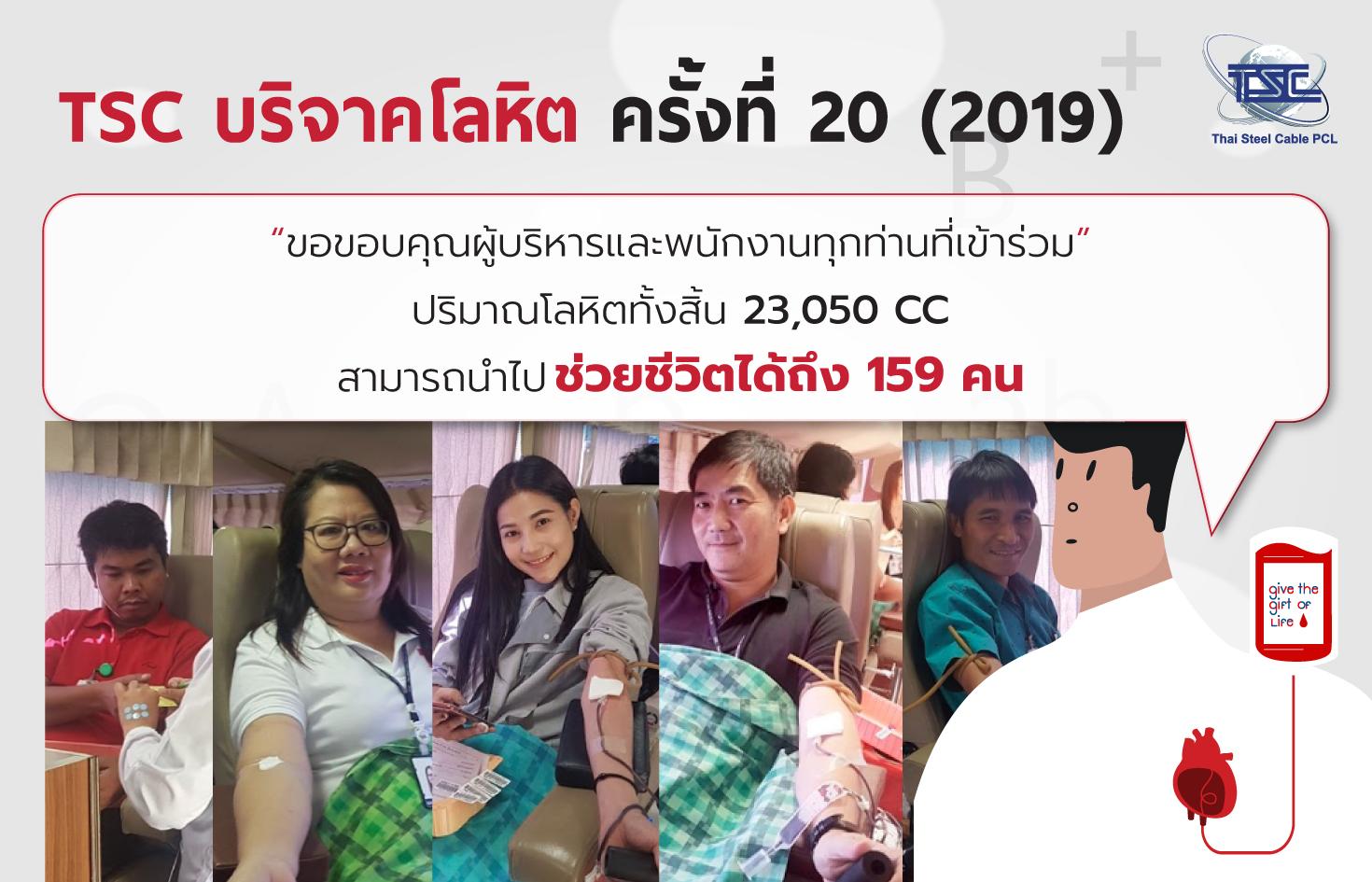 TSC Blood Donation #20 (2019)