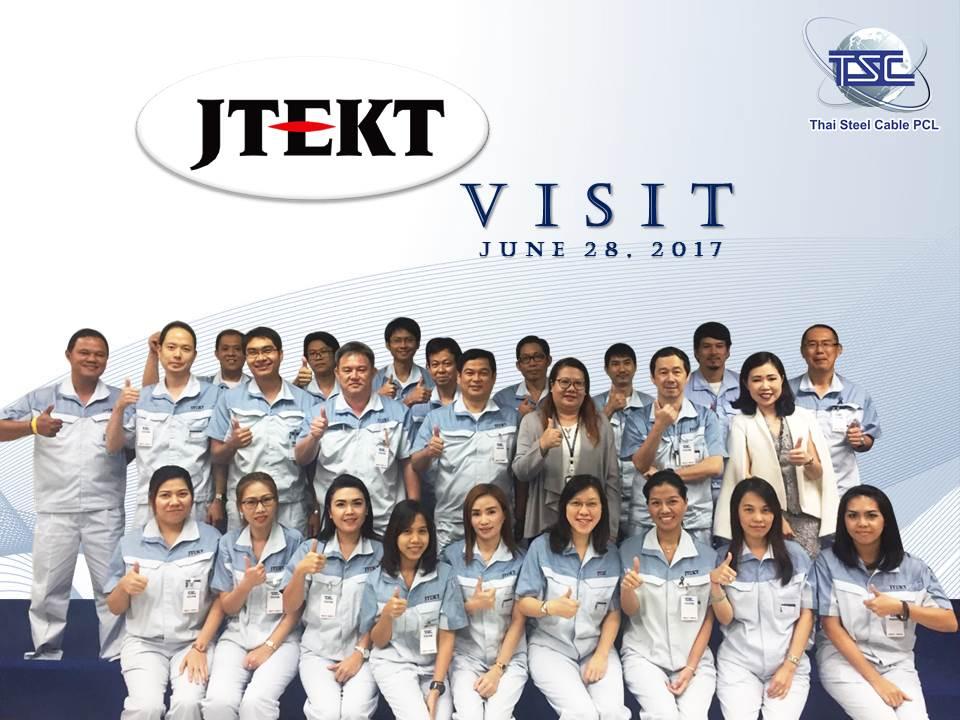 บริษัท เจเทคโตะ (ไทยแลนด์) จำกัด เข้าเยี่ยมชมบริษัท ไทยสตีลเคเบิล จำกัด
