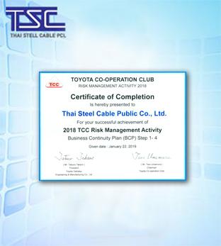 2018 TCC Risk Management  Activity Certificate