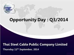 TSC Opportunity Day Q3/2014