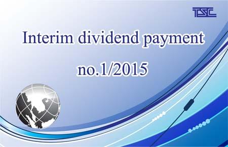 Interim dividend payment no.1/2015