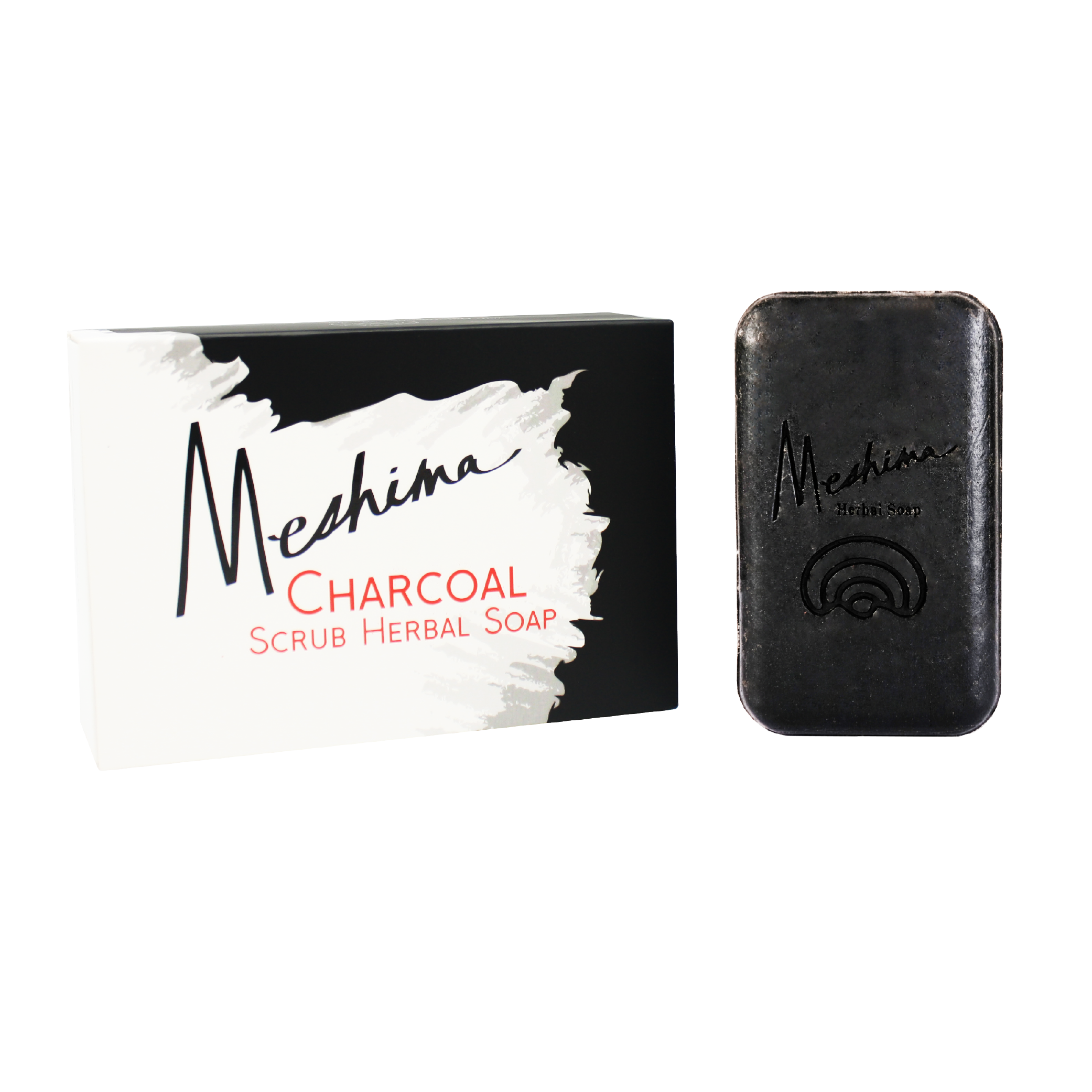 Meshima Charcoal Scrub Herbal Soap
