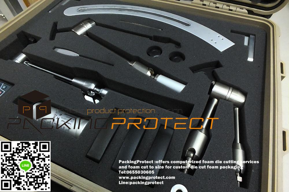 รับออกแบบและผลิตบรรจุภัณฑ์โฟมกันกระแทกอุปกรณ์เครื่องมือต่างๆ