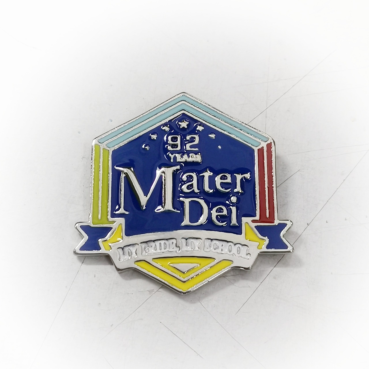 Badge 92 Years Mater Dei