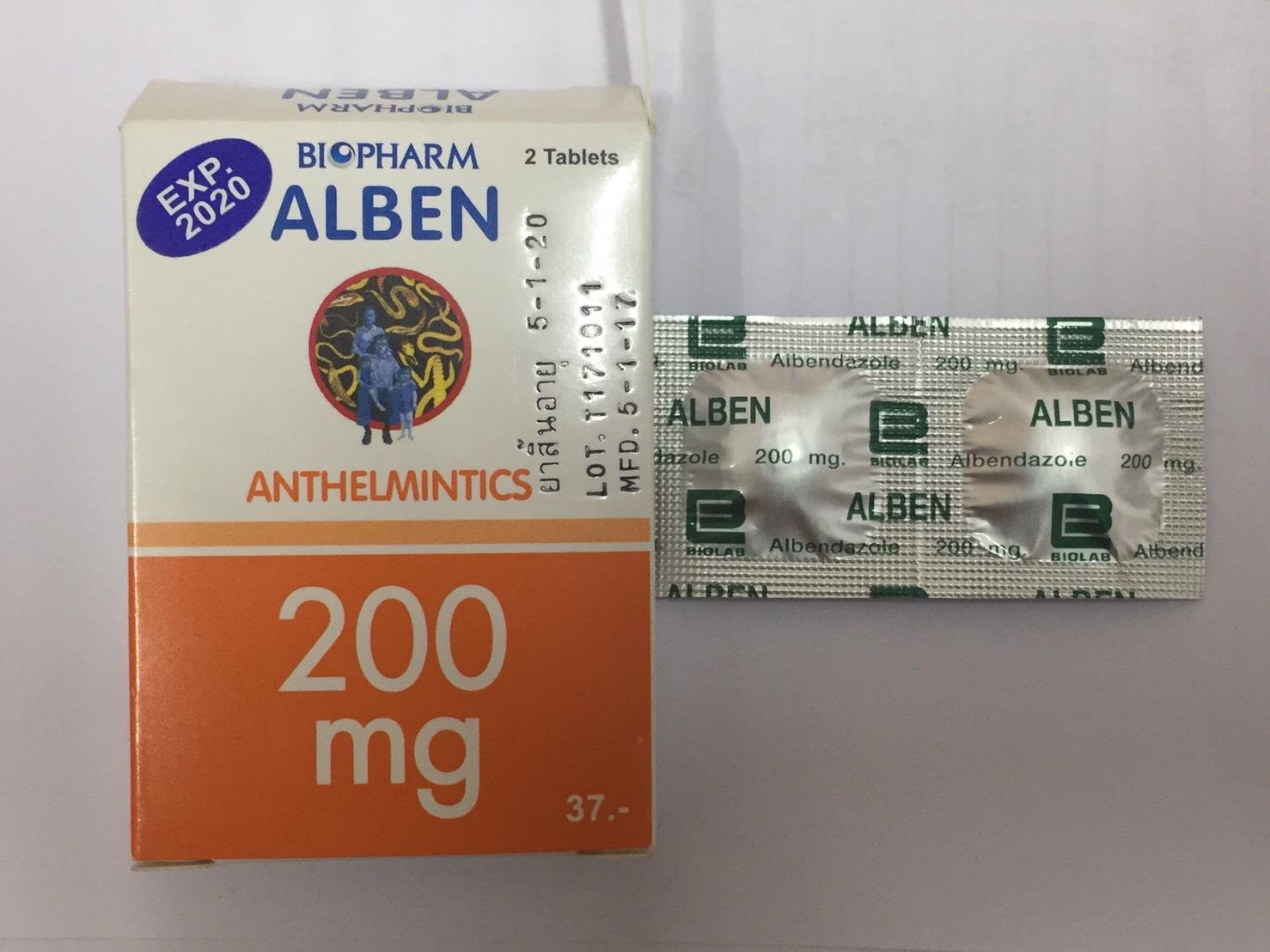 H173 Alben (albendazole) 200 mg. Deworm