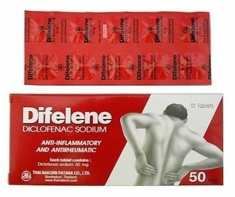 H212 ( 2 boxes) Difelene Diclofenac Sodium  50 mg.Tablets