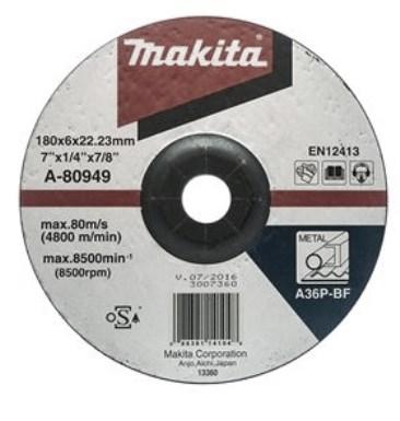 แผ่นเจียร์ 7X6 มิล หนาA36 ดำA-80949  MAKITA