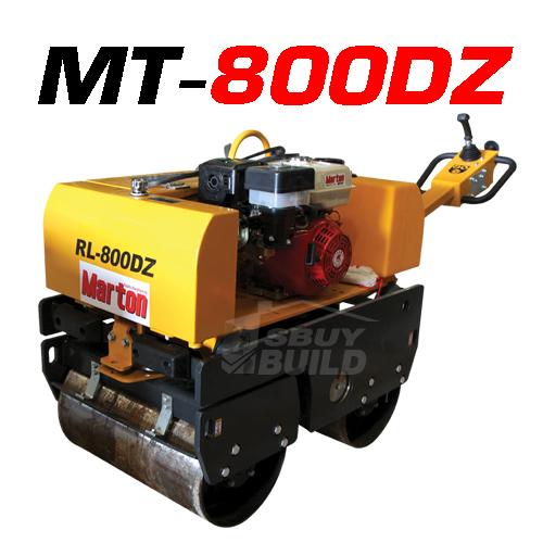 เครื่องตบดิน Roller รุ่น MT-800DZ + เครื่องยนต์marton 10 Hp (ดีเซล)