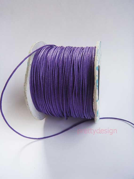 เชือกคอตตอน สำหรับเย็บสมุด สีม่วง ขนาด 0.5 มิล