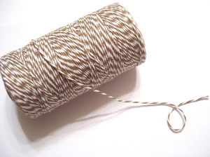Baker's Twine color cappuccino brown and White