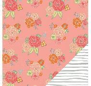 Wanderlust - 12x12 Paper - Lucy Lane กระดาษลายดอกกุหลาบ