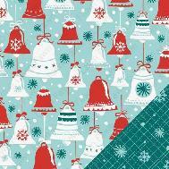 Lawn Fawn fa-la-la jingle bells Christmas ขนาด 12*12 นิ้ว