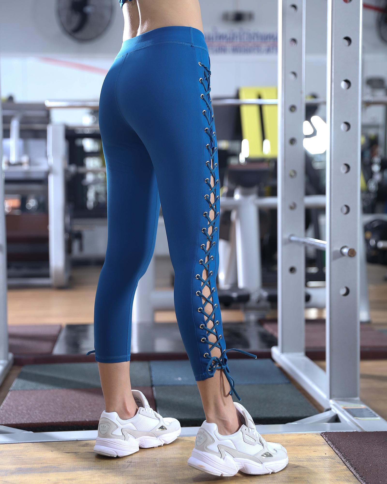 Manali sports pants กางเกงเอวสูงเป้าสามเหลี่ยม