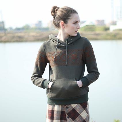[[*พร้อมส่ง L]] [Bn-004] Bnana++เสื้อกันหนาว++เสื้อกันหนาวสีเขียวมีหมวกฮู้ด