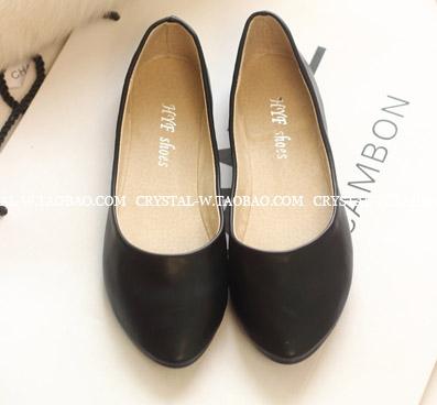 [[ไม่มีผลิตแล้วค่ะ]] [Cs-019] Crystal++รองเท้า++รองเท้าส้นเตี้ยสีดำใส่สบาย