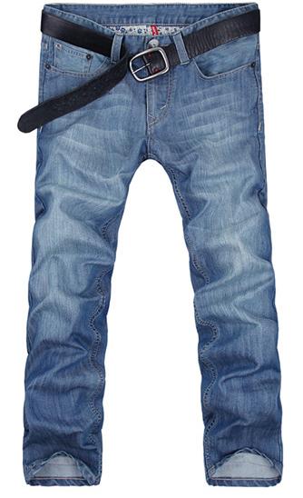 [[*พร้อมส่ง 28,29,30,31,33,34,36,38]] [Ma-005] Mr.Mian ++กางเกง++ กางเกงยีนส์ขายาวสีฟ้า