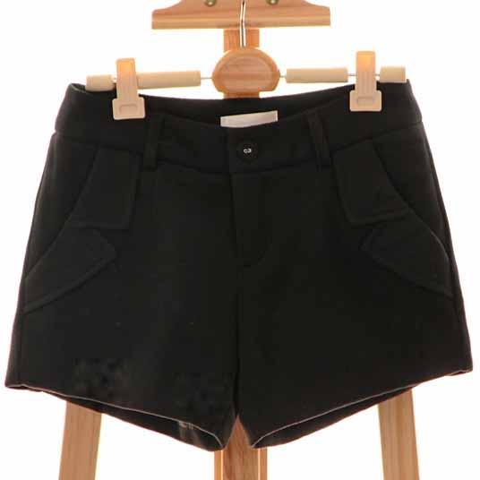 [[*พร้อมส่งS L]] [Qi-153-2] Qian Qian++กางเกง++กางเกงขาสั้นสีดำ มีซับให้อย่างดี