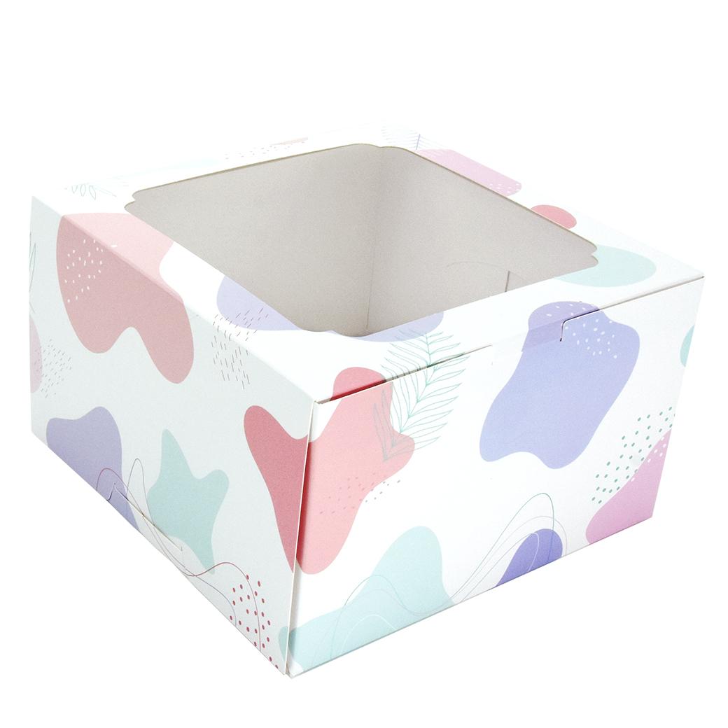 กล่องเค้กทรงสูง 1 ปอนด์  ลาย Minimal