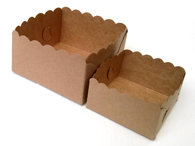 ถาดรองถุงขนมทรงสูง กระดาษคราฟท์ สำหรับถุงจีบ 5 x 8 นิ้ว