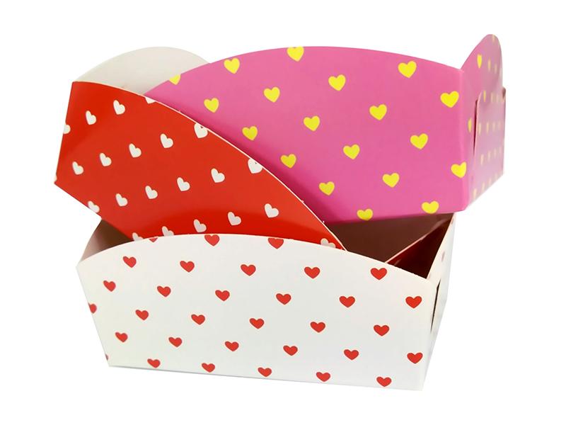ถาดรองถุงขนม ลาย Sweetheart  สำหรับถุงจีบ 5 x 8 นิ้ว