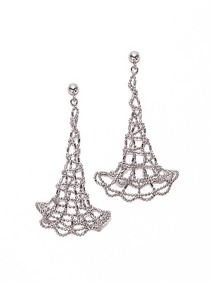 Lace Silver Chain Drop Earring (Limited Edition)