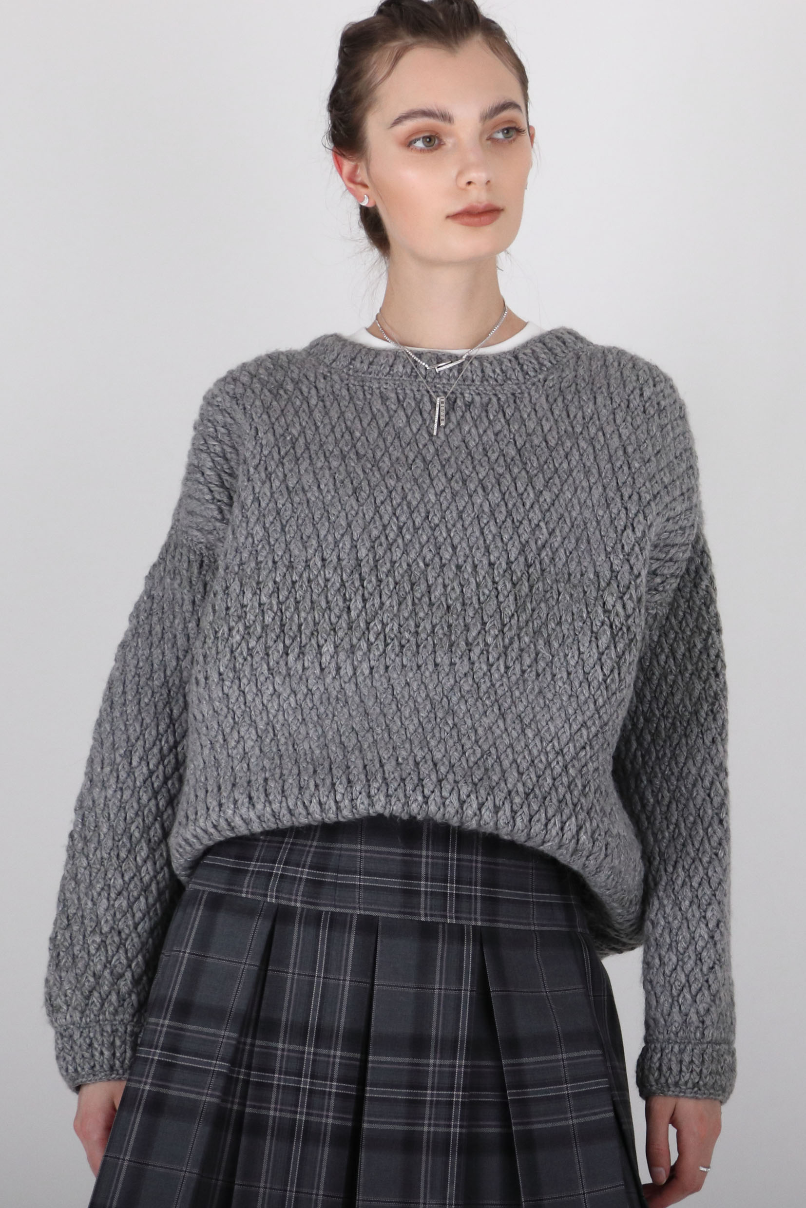 CAINY TEXTURED KNITTED JUMPER