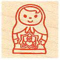 Stamp รูปตุ๊กตารัสเซีย ขนาด 3*3 cm.