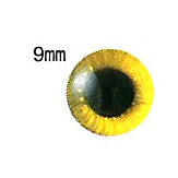 ตาตุ๊กตา สีเหลือง ขนาด 9 มม. ราคาต่อคู่