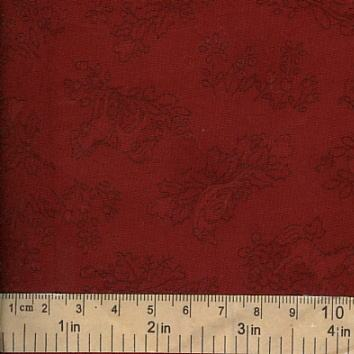 ผ้า cotton American Country VII ลายนกสีแดง ขนาด 1/8 เมตร (25*55 ซม.)
