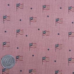 ผ้า cotton ญี่ปุ่น ลายธง usa พื้นชมพู ขนาด 1/8 เมตร (25*55 ซม.)