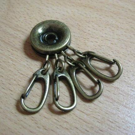 พวงกุญแจ สำหรับงาน Keycover สีทองเหลือง อันละ