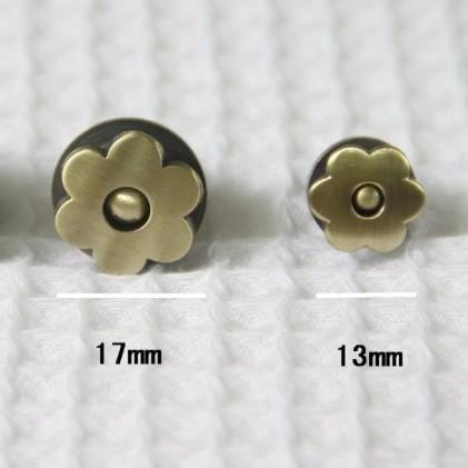 กระดุมแม่เหล็กรูปดอกไม้ มีขนาด 1.3 , 1.7 มม. ราคา/อัน