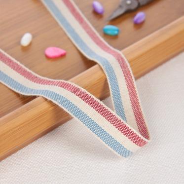 เทปผ้า Cotton linen  โทนแดง ขนาด 25 mm.หลาละ