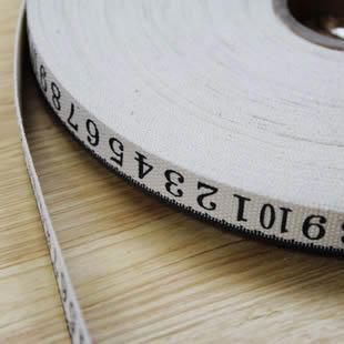 เทปผ้า Cotton ลายสายวัด ขนาด 1.5 cm.หลาละ