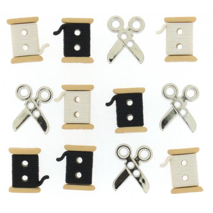กระดุมชุด sew cute spools/scissors ของ Dress It Up ราคา/แพ็ค
