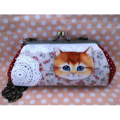 Cat Pikpak พร้อมสายโซ่ ขนาดปากกระเป๋า 18 cm. (กระเป๋าสำเร็จ)