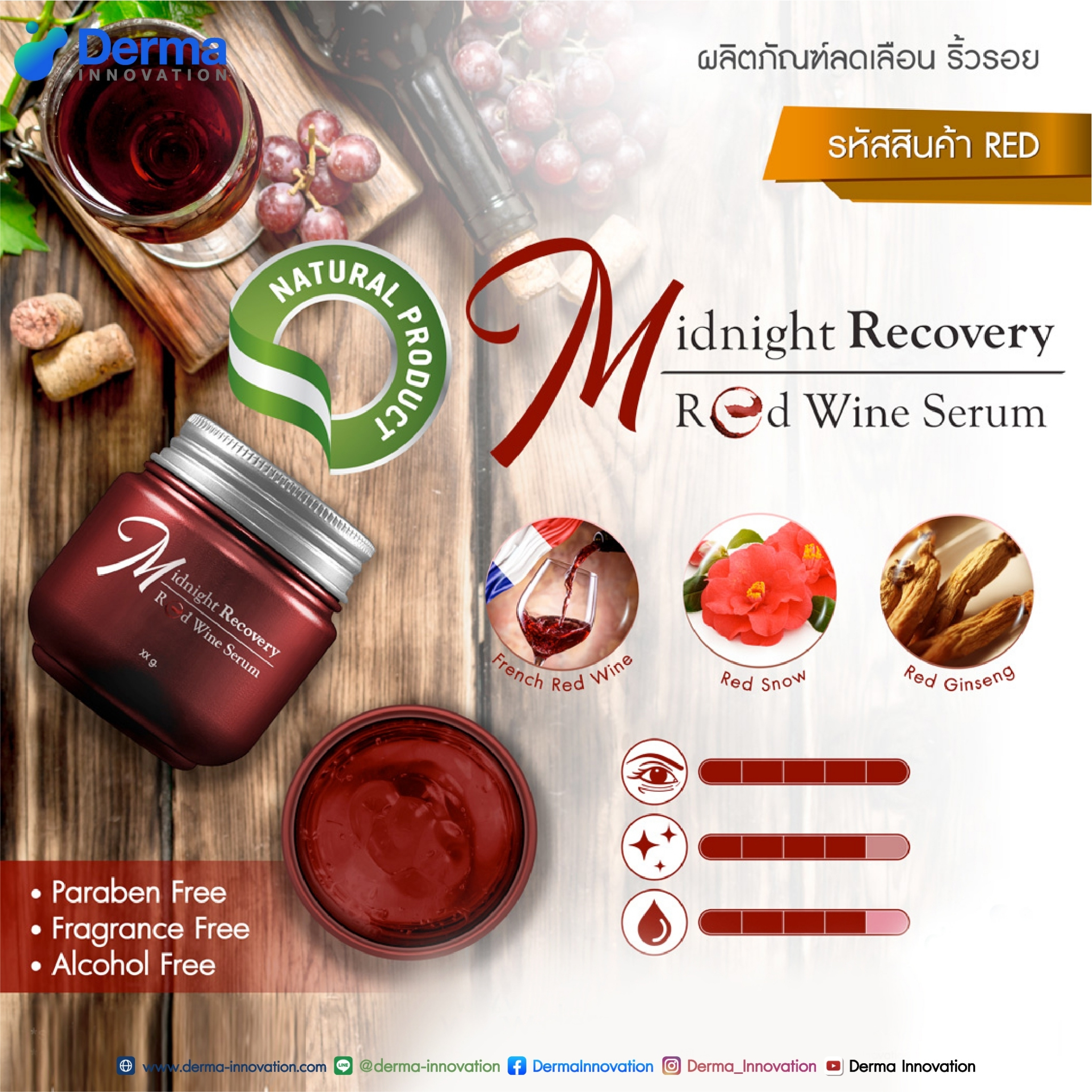 Midnight Recovery Red Wine Serum