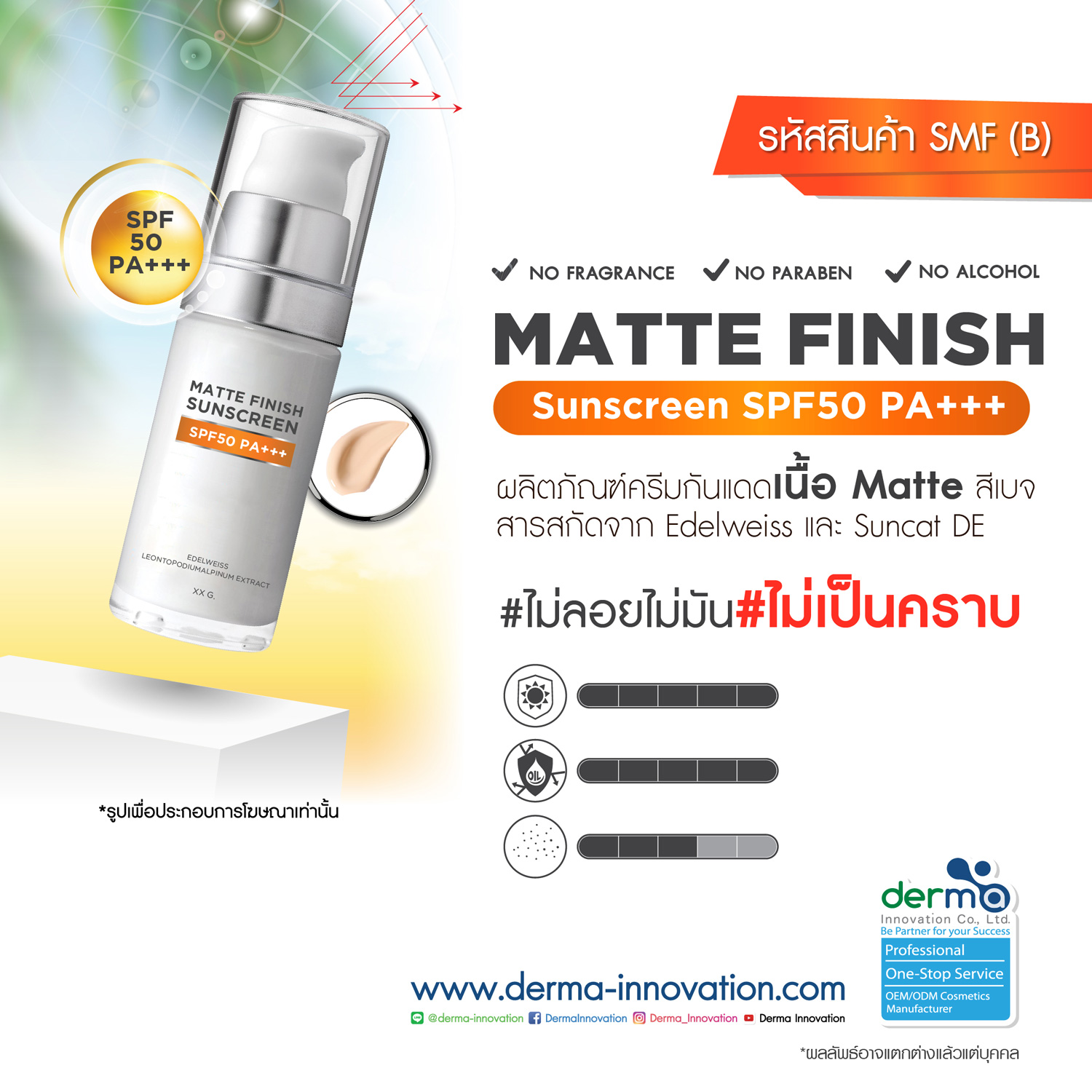 Matte Finish Sunscreen SPF50 PA +++