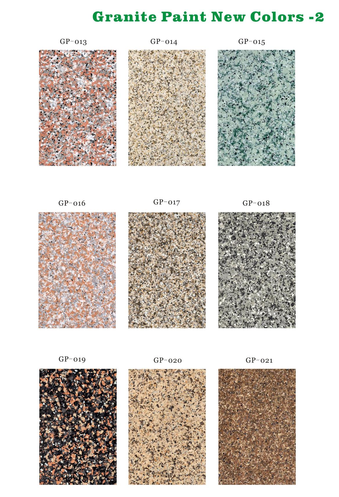 Granite Paint Colors