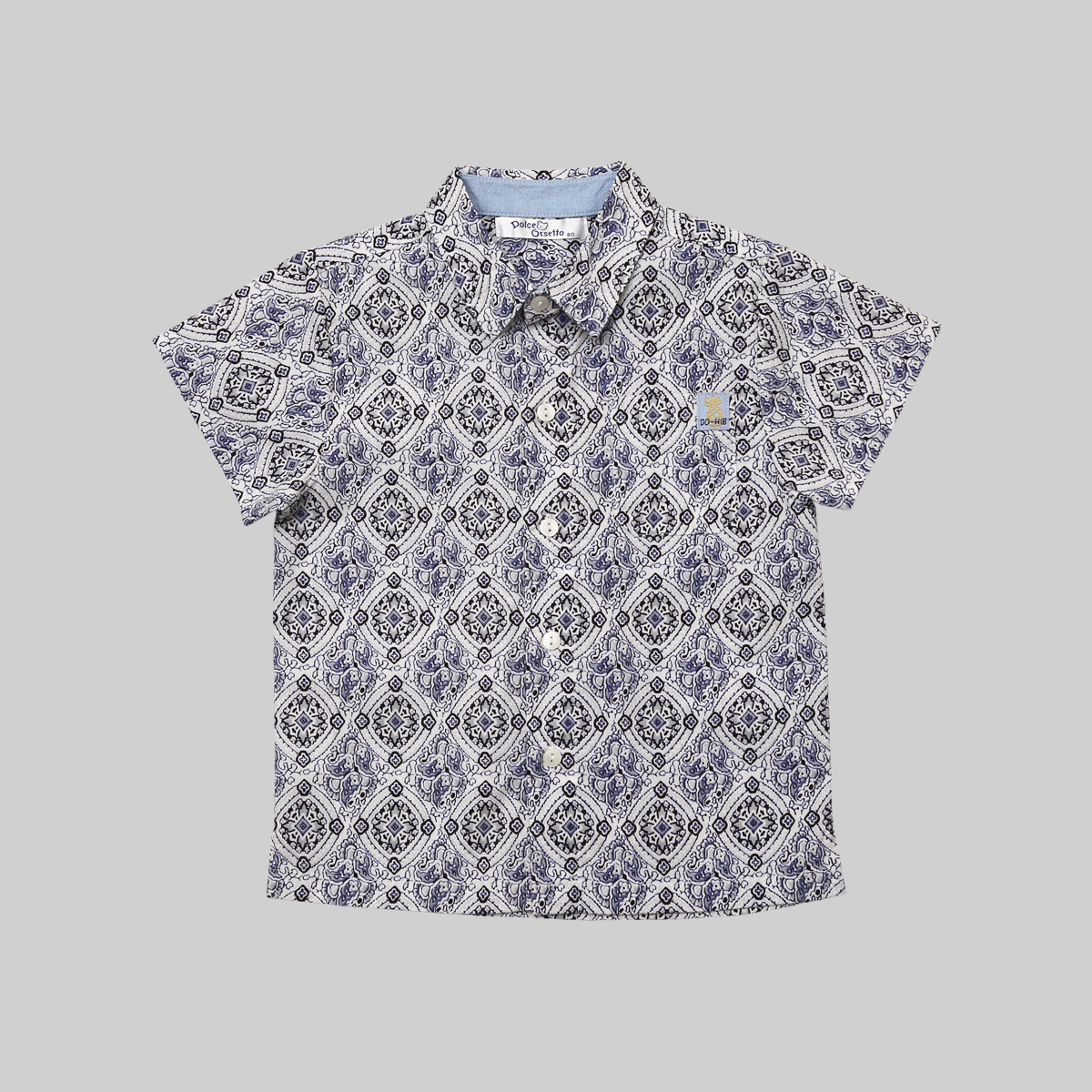 Dolce Orsetto Overall Print Shirt short sleeves Collection Tropical Days