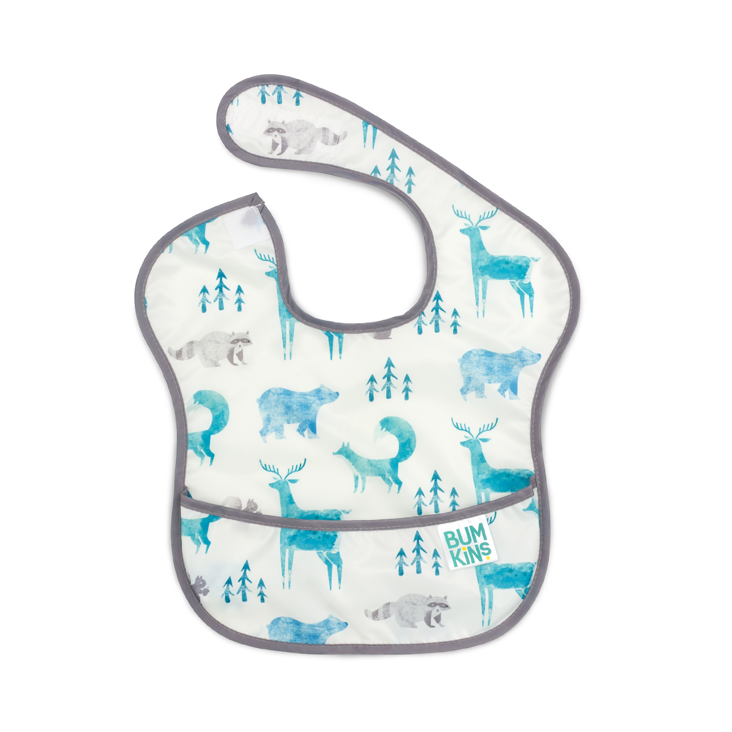 "Bumkins SuperBib size 11.5""x 13"" - Wildlife"